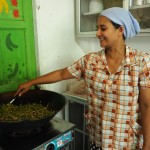 Staff preparing a healthy lunch for students at the Burmese Learning Center in Kuraburi