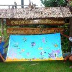 Locally made batik at the ban talae nok community tourism center, Thailand