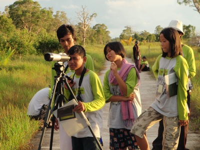 Environmental Youth Camp - Bird watching - a project supported by Andaman Discoveries