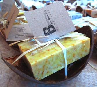 Herbal homemade soap from Ban Talae Nok Woman's soap group in Thailand